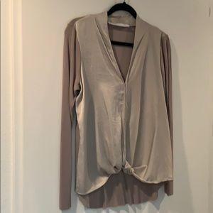 Light silver long sleeve top